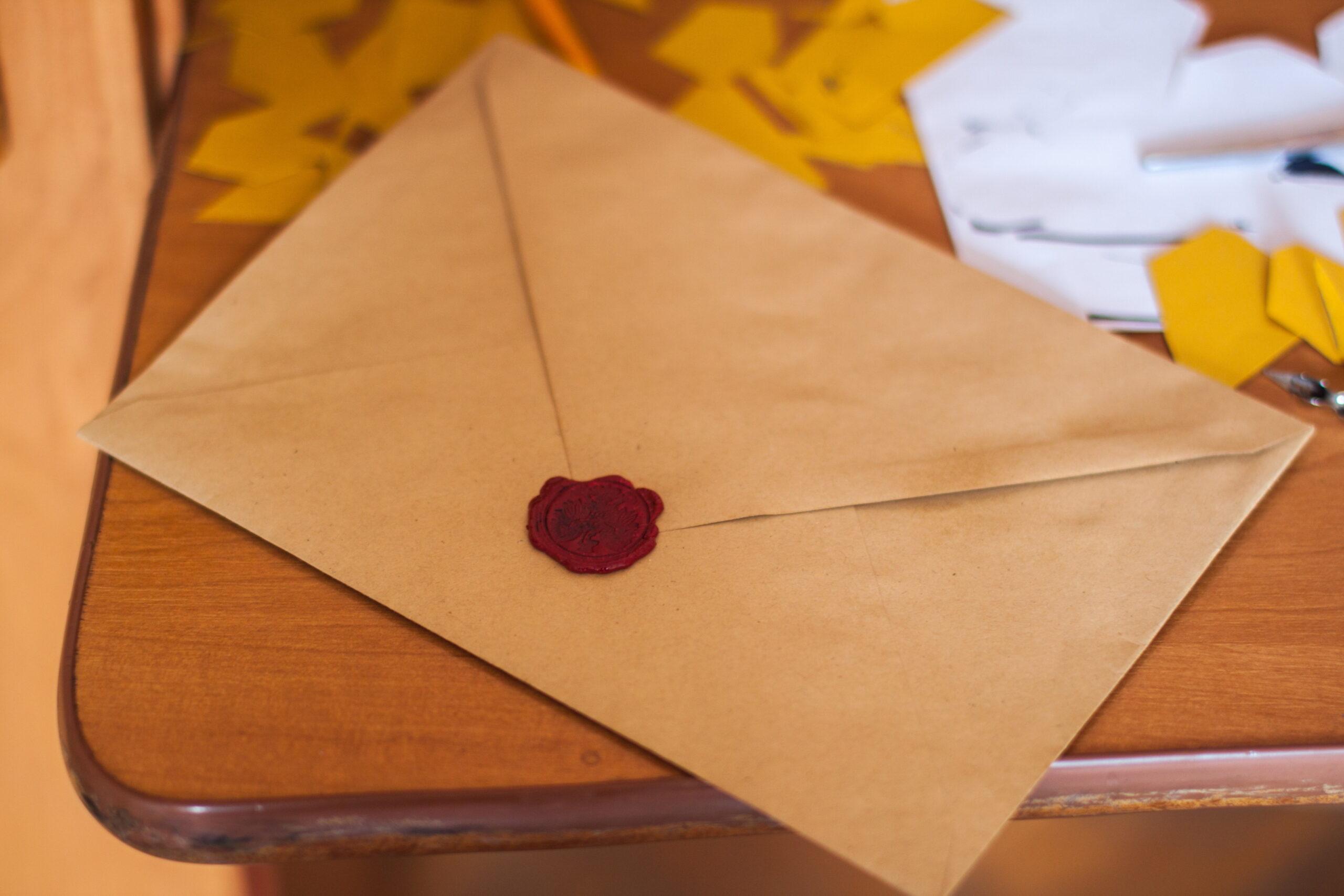 Old sealed envelope