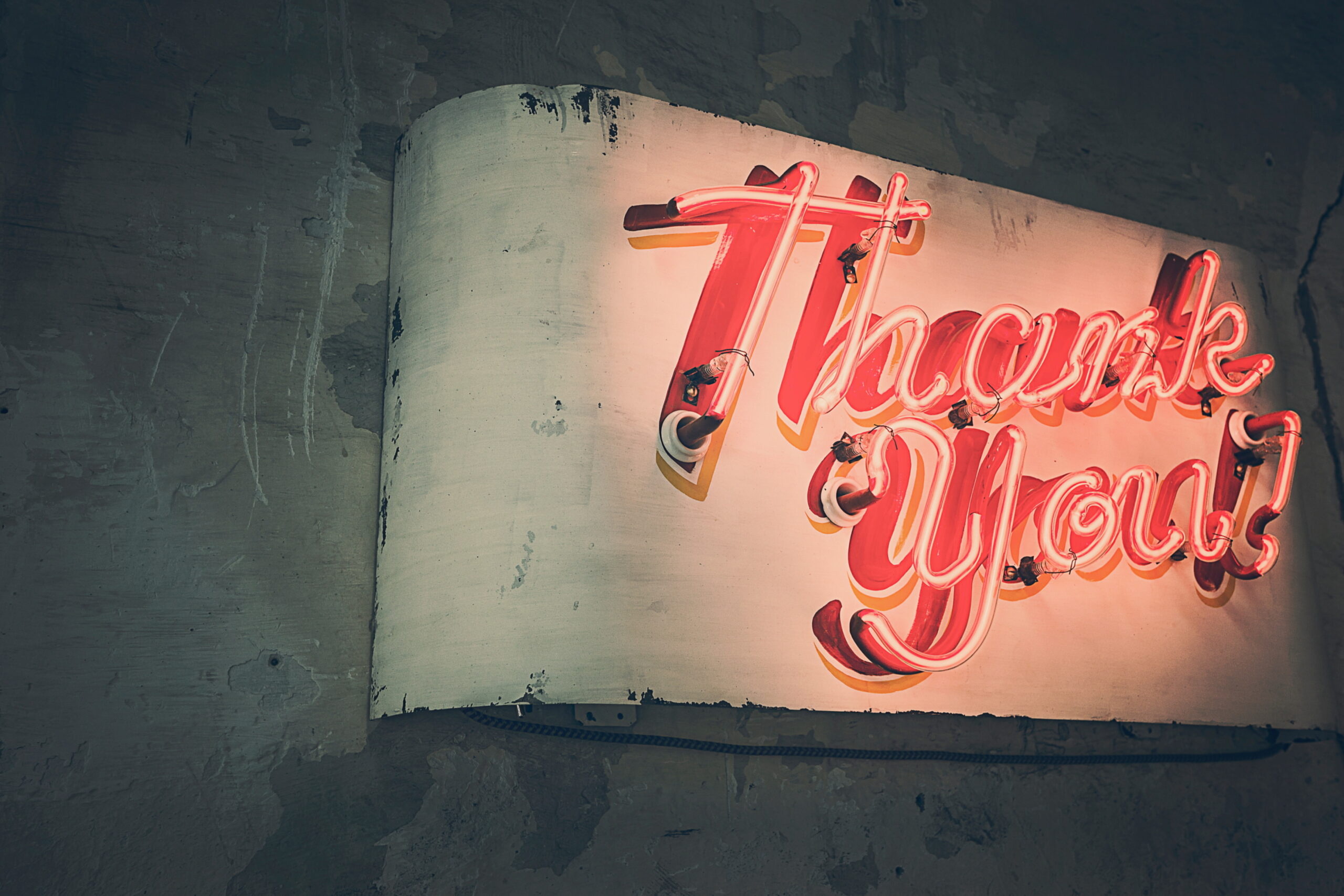 Thank You sign
